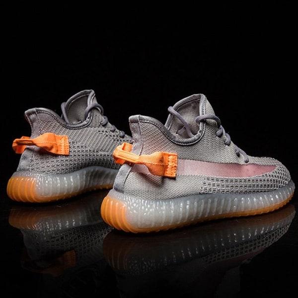 Summer Flying Woven Glowing Sneakers Men Comfortable Sports orange 44