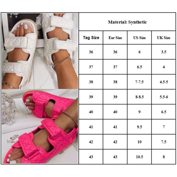 Sommar tjocka sulor kardborrskor dam matchande sandaler White 43