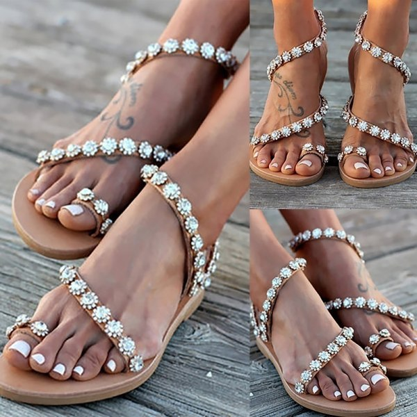 Trendy Women Slip One Summer Shoes Casual 38