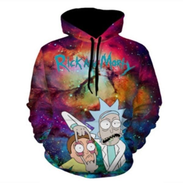 Unisex Sweatshirt Rick and Morty Cartoon Funny multicolor XL
