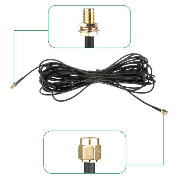 WIFI Antennförlängningskoaxialkabel SMA-kontaktadapter 3 / 9M 3m