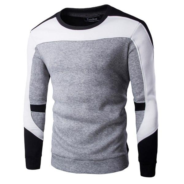 Vintersporttröja för män långärmad tröja Grey 2XL