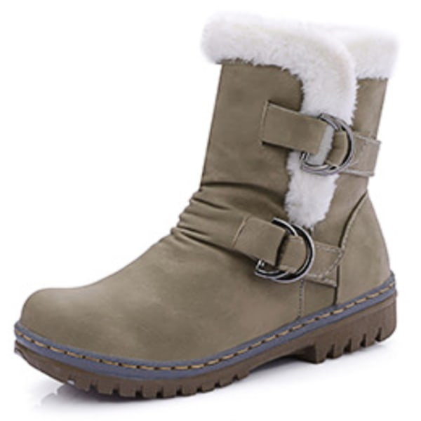 Winter Snow Boots Female Large Size armygreen 40