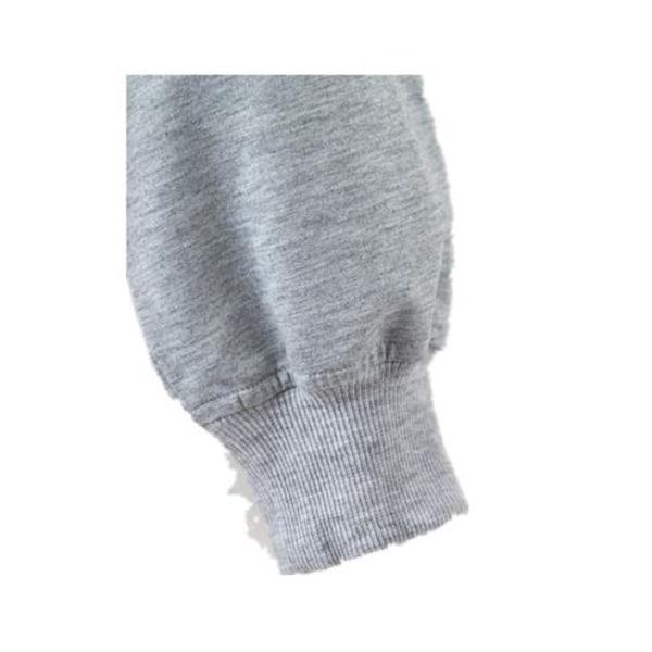 Kvinnors långärmade tröjor Casual Hoodie Pullover Blus Black M