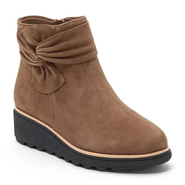 Women Winter Bowknot Wide Snow Ankle Boots Warm Comfy Shoes Khaki 40