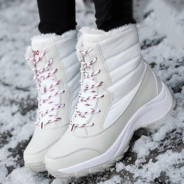 Women's Fashion Snow Boots Winter white 41