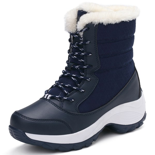 Women's Fashion Snow Boots Winter blue 42