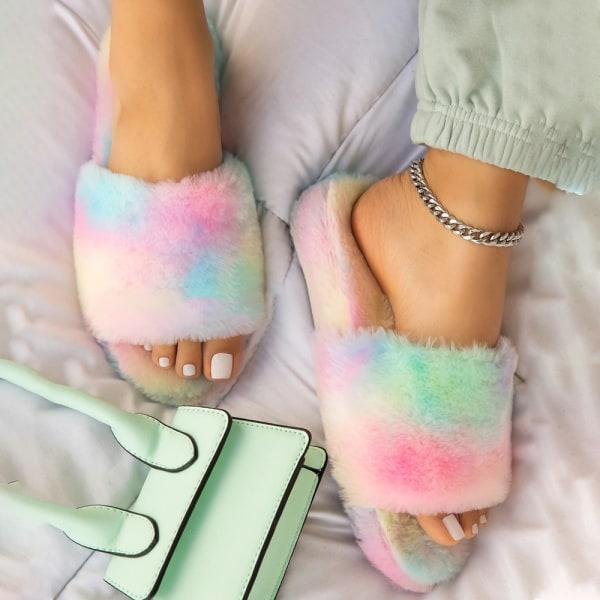 Women's Home Plush Slippers Winter Living Room Bedroom Multicolor 41