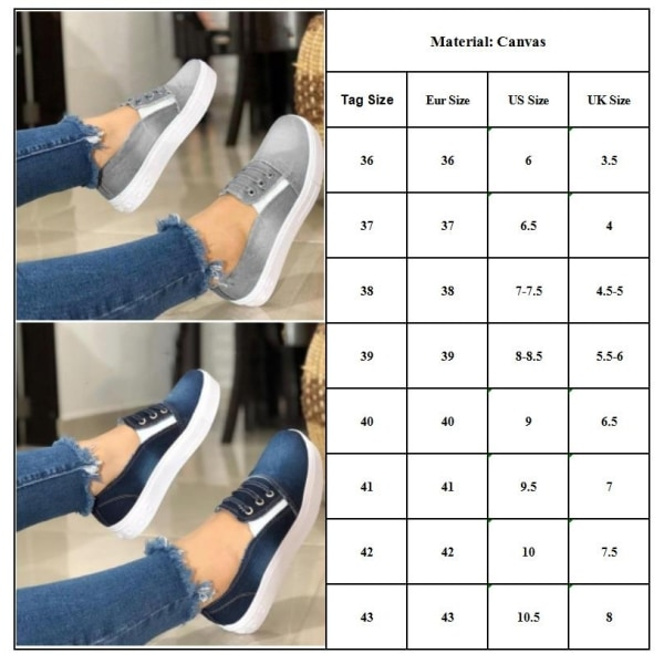Women  Summer  Gradient  Elastic Loafers Casual Fashion dark blue 40