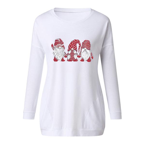 Kvinnors jul T-shirtblus Xmas Party Pullover Toppar
