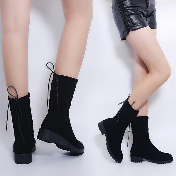 Kvinnor över knä / mittkalvklackade stövlar höst Black 43