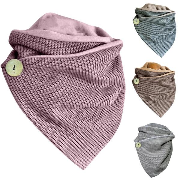 Kvinnors halsduk Halsdukar Vinterhals Comfy Casual Grey