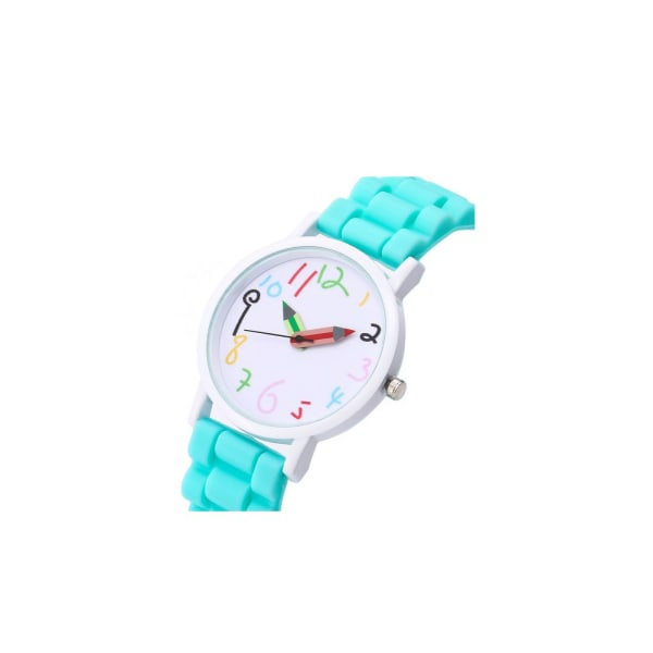First Kids Childrens Boys Watch Light Blue Color Help Tell Time