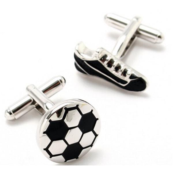 Football Boot Ball Set Novelty Sports Cufflinks Free Gift Pouch