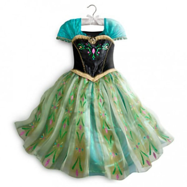 Anna princess klänning + tiara/fläta/spö 120 cl