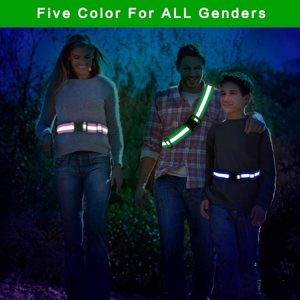 Reflexband - Säkerhetsband -Reflex för både vuxen och barn neongrön