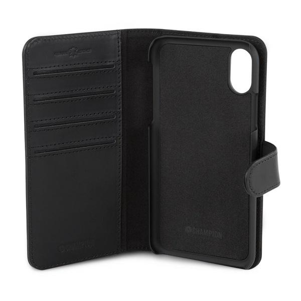 Plånboksfodral i läder till iPhone XS från CHAMPION