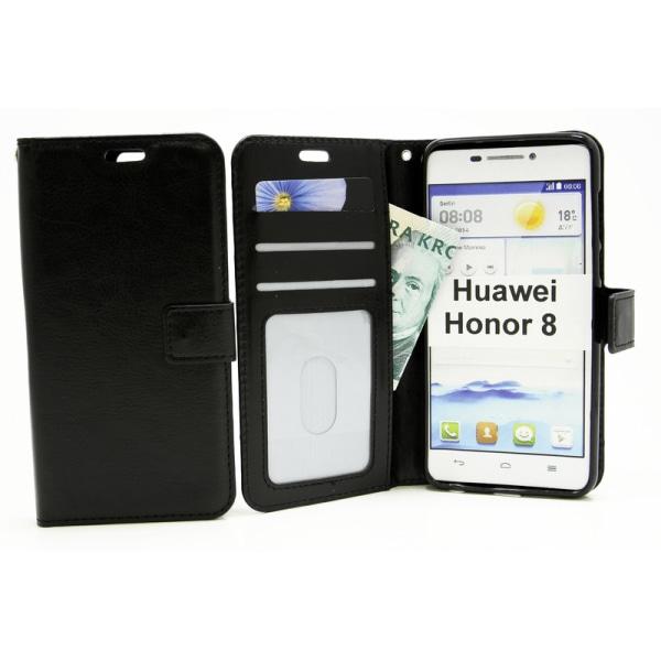 Crazy Horse Wallet Huawei Honor 8 Turkos