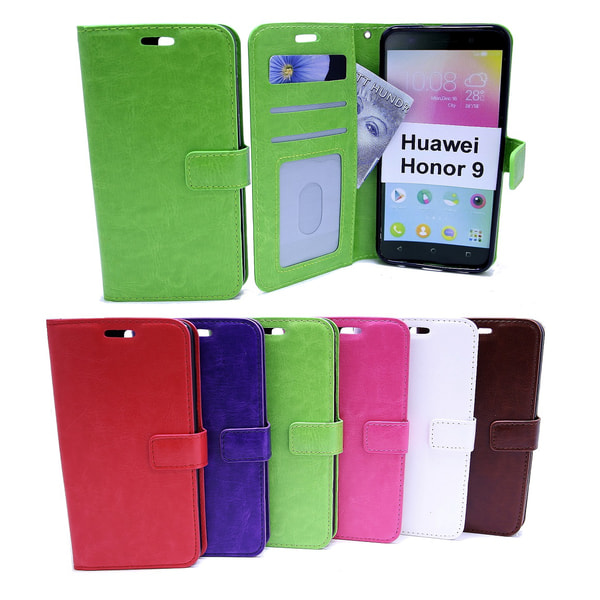 Crazy Horse Wallet Huawei Honor 9 (STF-L09) Lila