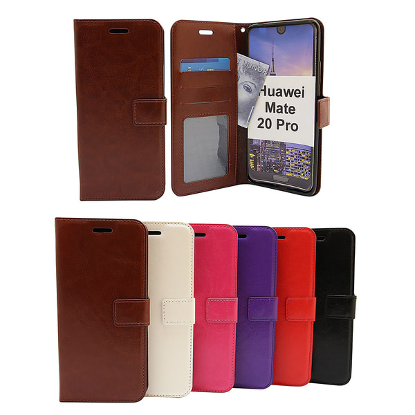 Crazy Horse Wallet Huawei Mate 20 Pro Hotpink