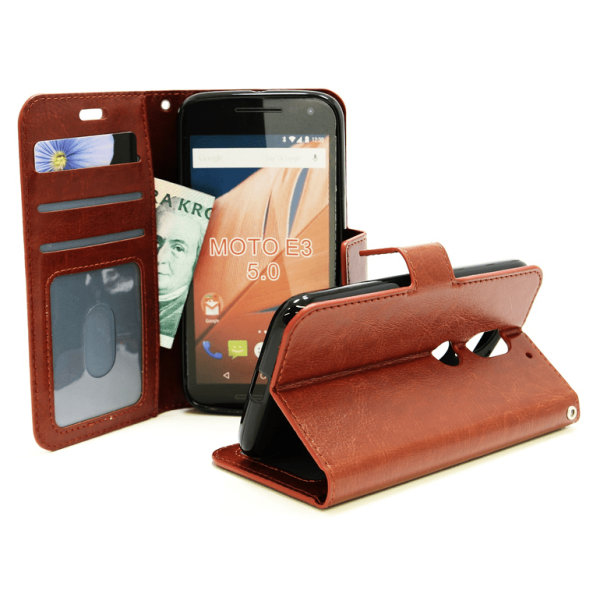 Crazy Horse Wallet Lenovo Motorola Moto E3 / 3rd generation Vit