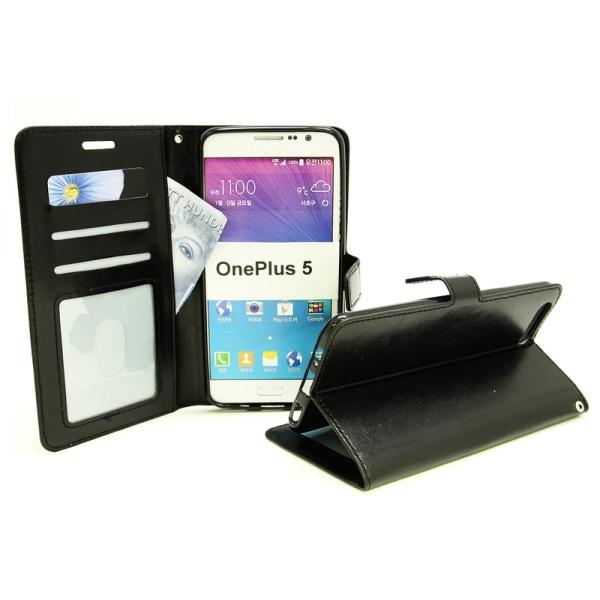 Crazy Horse Wallet OnePlus 5 Brun