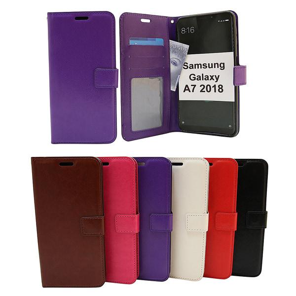 Crazy Horse Wallet Samsung Galaxy A7 2018 (A750FN/DS) Lila