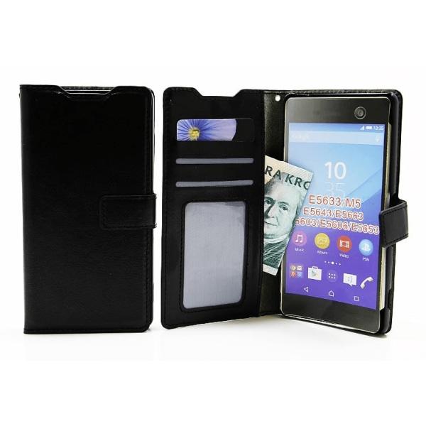 Crazy Horse Wallet Sony Xperia M5 (E5603 / E5633) Vit