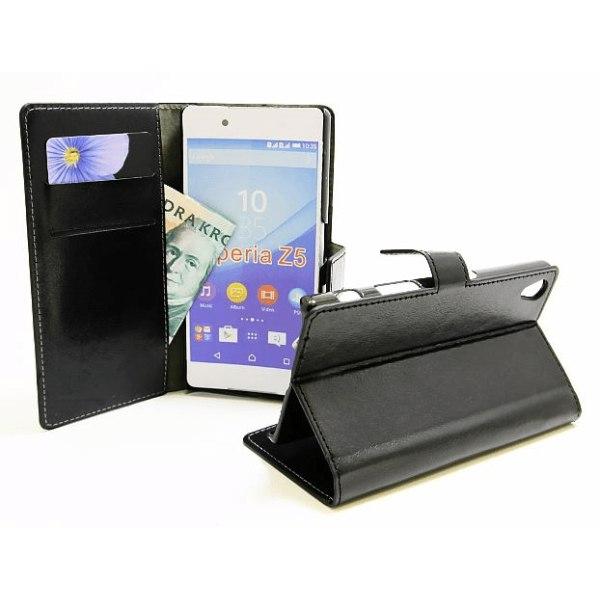 Crazy Horse Wallet Sony Xperia Z5 (E6653) Hotpink