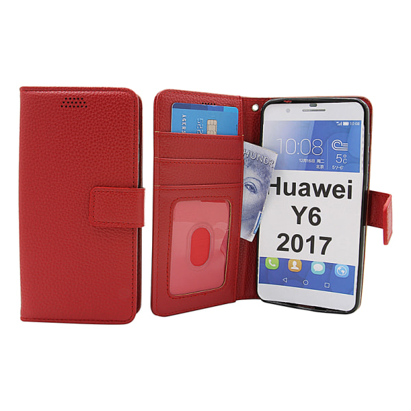 New Standcase Wallet Huawei Y6 2017 (MYA-L41) Svart