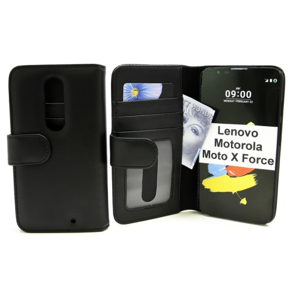 Plånboksfodral Lenovo Motorola Moto X Force Hotpink