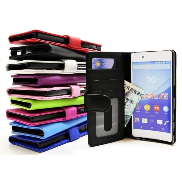 Plånboksfodral Sony Xperia Z5 (E6653) Grön