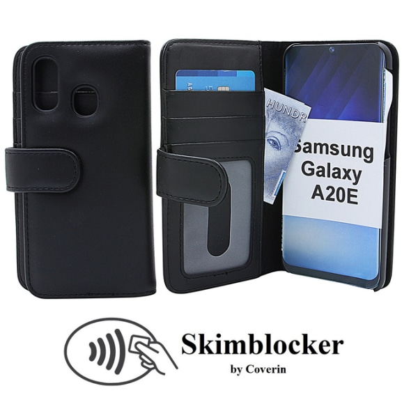 Skimblocker Plånboksfodral Samsung Galaxy A20e (A202F/DS) Röd