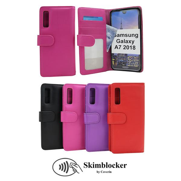 Skimblocker Plånboksfodral Samsung Galaxy A7 2018 (A750FN) Svart