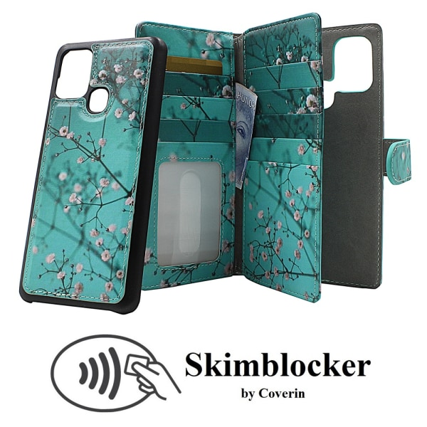 Skimblocker XL Magnet Designwallet Samsung Galaxy A21s (A217F)