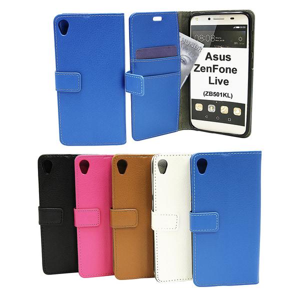 Standcase Wallet Asus ZenFone Live (ZB501KL) Svart