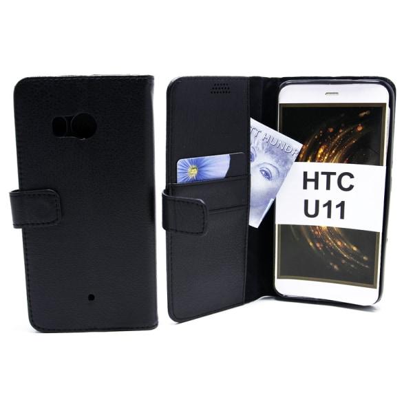 Standcase Wallet HTC U11 Svart