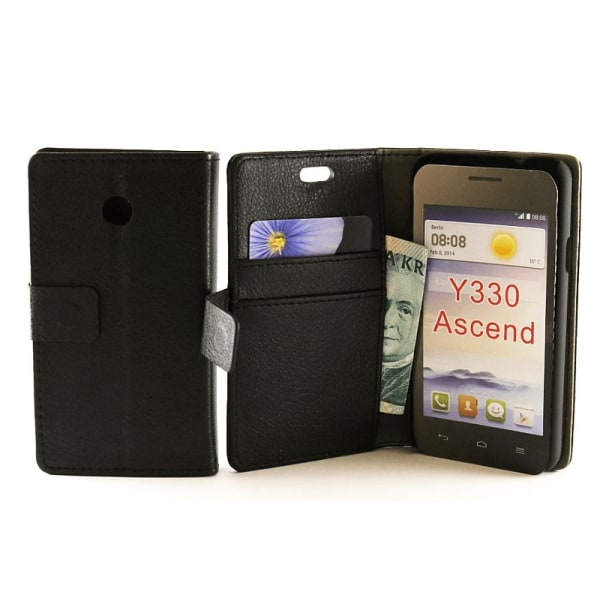 Standcase wallet Huawei Ascend Y330 Hotpink