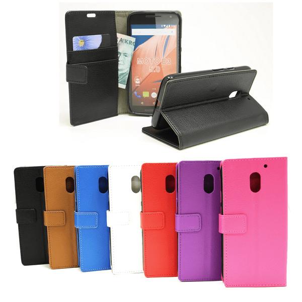 Standcase Wallet Lenovo Motorola Moto E3 / 3rd generation Svart
