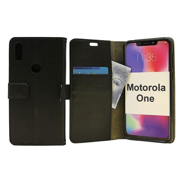 Standcase Wallet Motorola One Röd