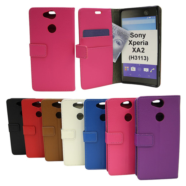 Standcase Wallet Sony Xperia XA2 (H3113 / H4113) Röd