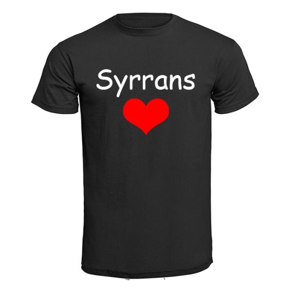 Barn T-shirt - Syrrans hjärta Ljusgrön 116cl 5-6år