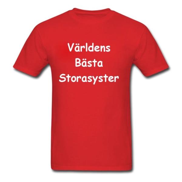 Barn t-shirt - Världens bästa storasyster Ljusblå 140cl 9-11år
