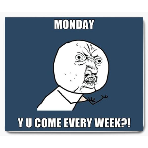 I hate mondays jag hatar måndagar 7  - musmatta