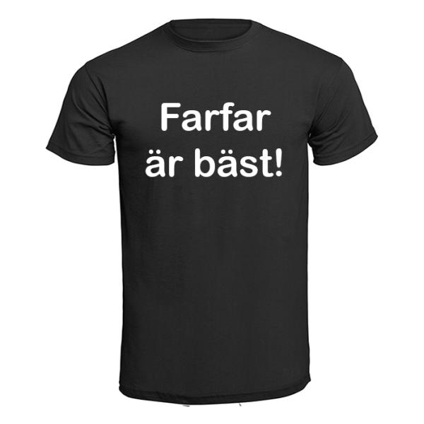T-shirt - Farfar är bäst! Svart XL