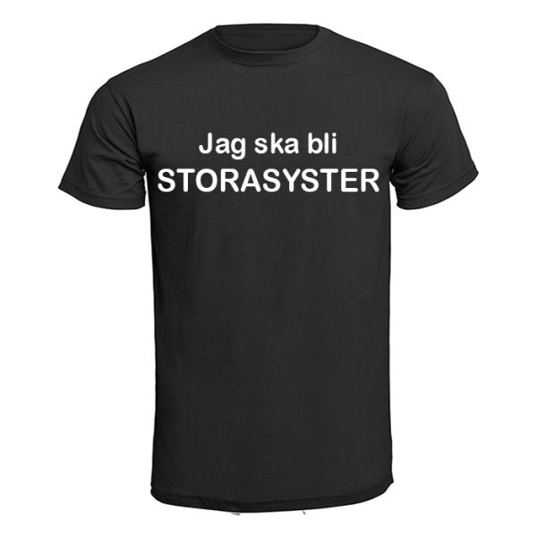 T-shirt - Jag ska bli storasyster Vit L