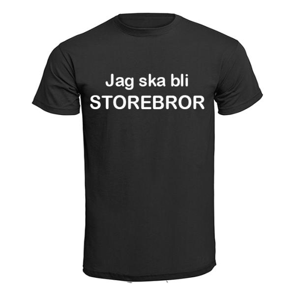 T-shirt - Jag ska bli storebror Svart 140cl 9-11år