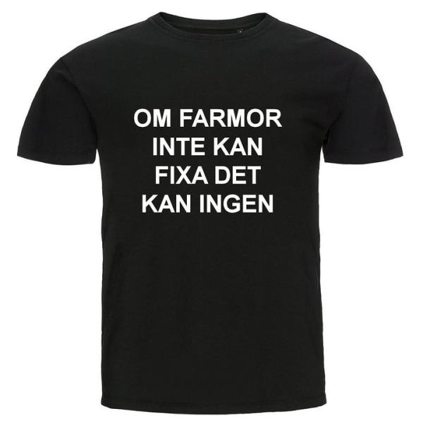 T-shirt - Om farmor inte kan fixa det kan ingen Blå 3XL