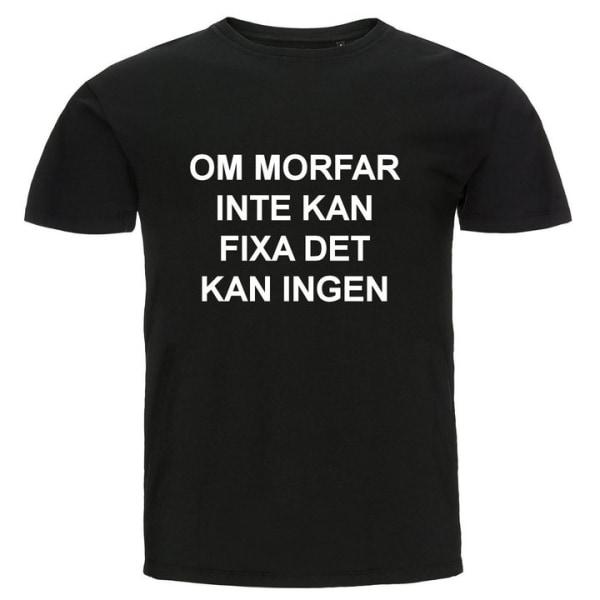 T-shirt - Om morfar inte kan fixa det kan ingen Grå 104cl 3-4år