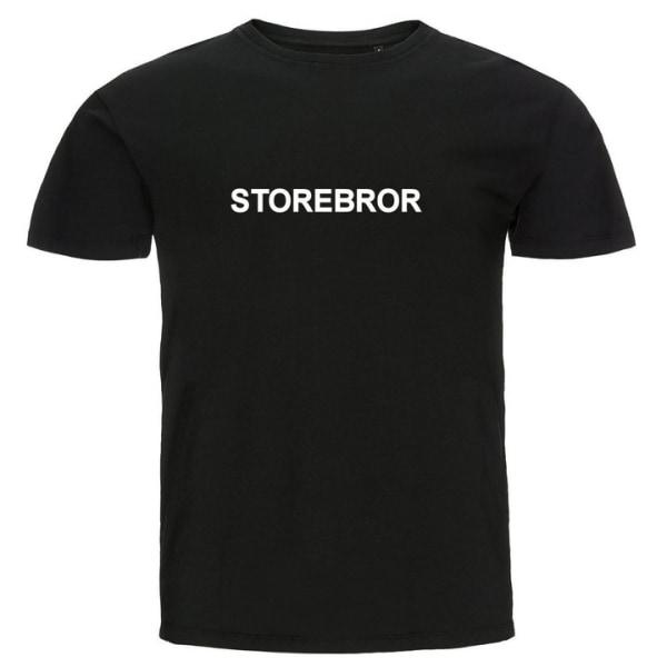 T-shirt - Storebror Svart 104cl 3-4år
